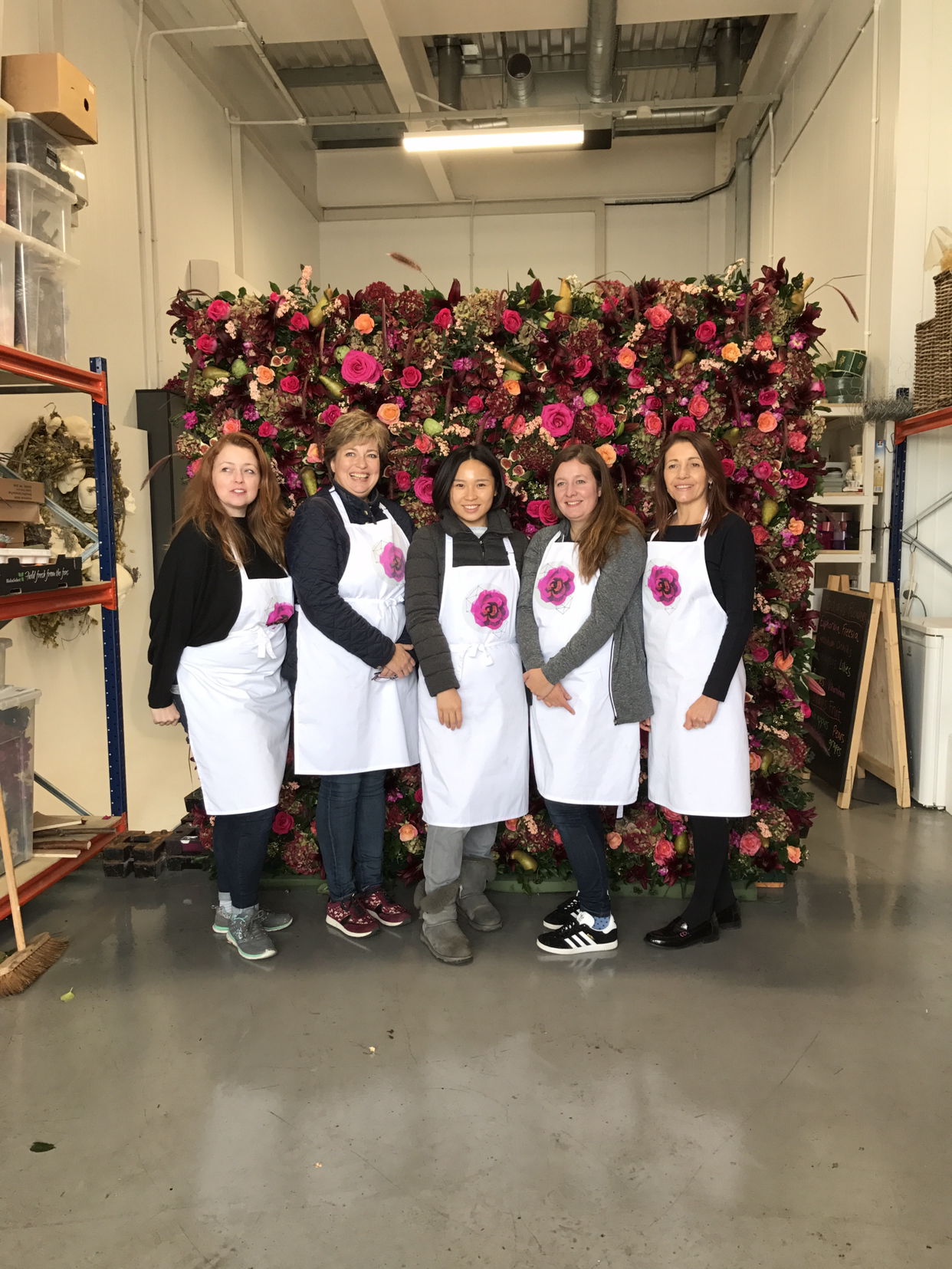 Meet frames for florists the flower new covent garden market in the second masterclass the group learned to build and decorate a flower wall from flowers and fruit izmirmasajfo