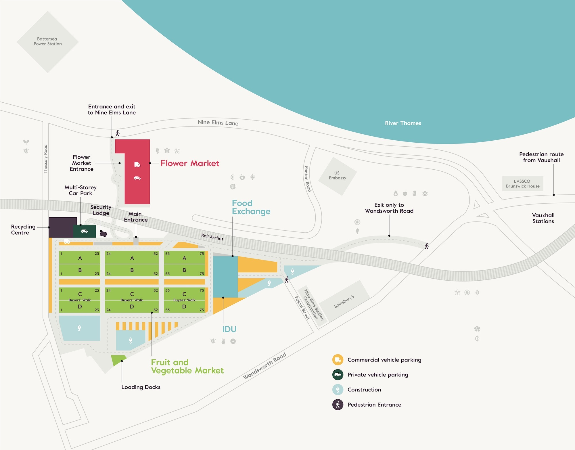 New Covent Garden Market Site Map