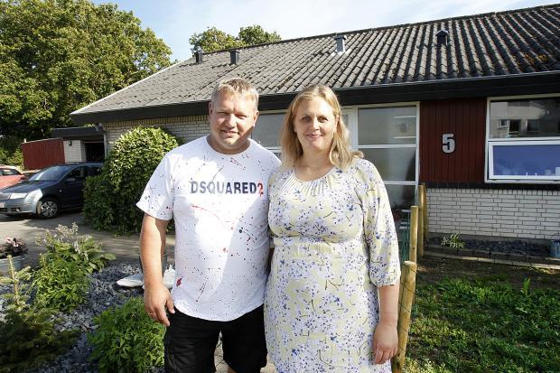 Martin Kristensen og Tina Vendelbo arrangerede møder for borgerne i Lem. Målet er at stoppe utrygheden. Foto: Lindy Jørgensen