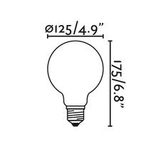 Globo filament  faro 17423 luminaire lighting design signed 14859 thumb