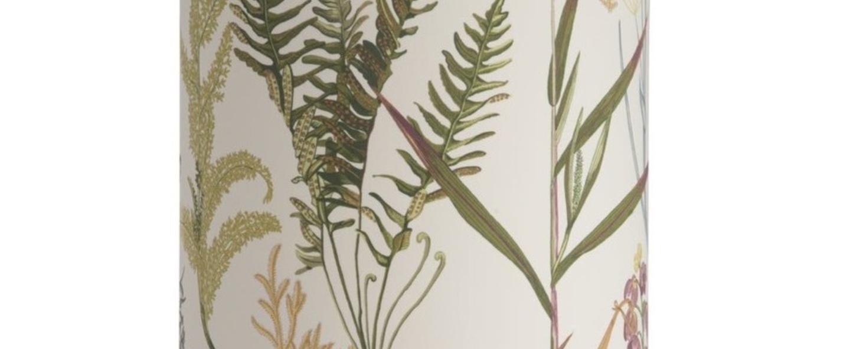 Abat jour botanical blanc o30cm h40cm ebb and flow normal