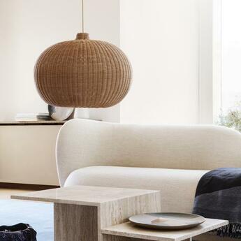 Abat jour braided lampshade marron o54cm h40cm ferm living normal