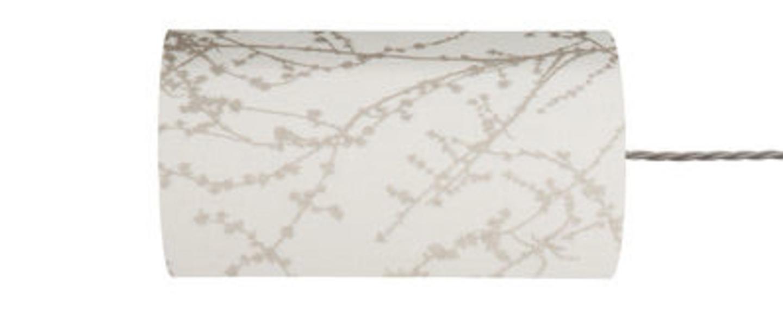Abat jour branches blanc et argent o11 5cm h22cm ebb and flow normal