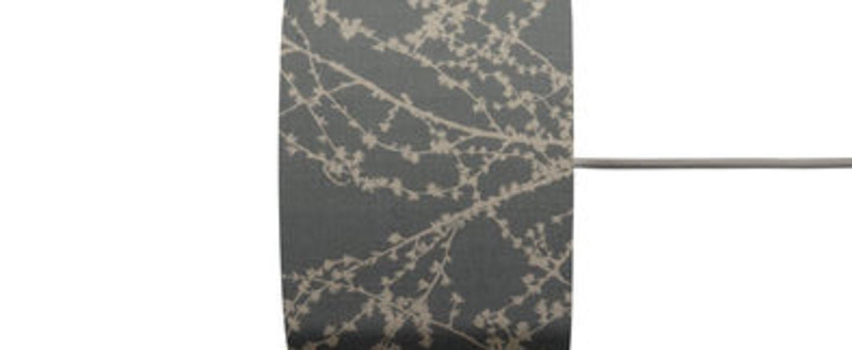 Abat jour branches gris argent o17 5cm h12cm ebb and flow normal