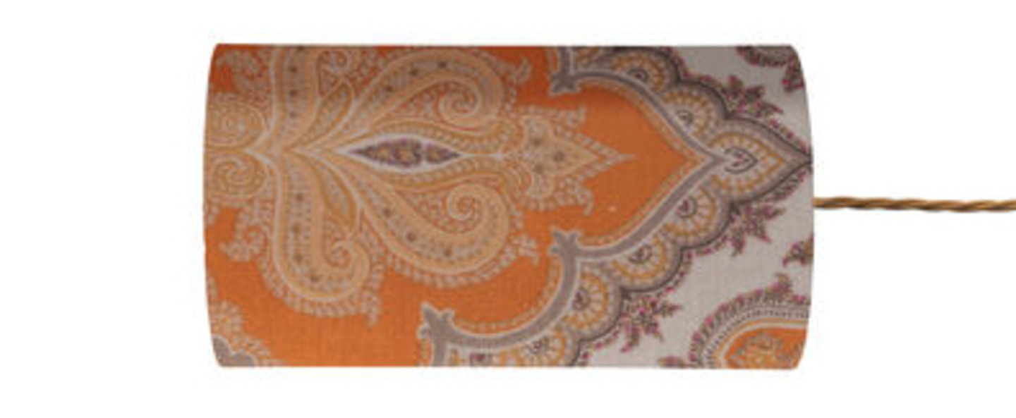 Abat jour brocade orange o11 5cm h22cm ebb and flow normal