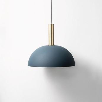 Abat jour collect lighting dome shade bleu o38cm h16cm ferm living normal