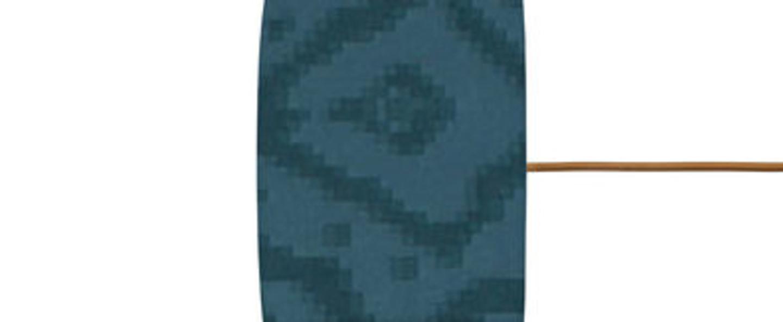 Abat jour cosmos indigo o17 5cm h12cm ebb and flow normal