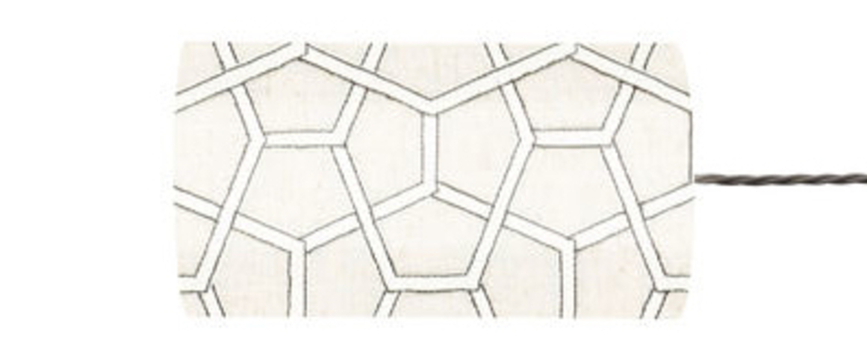 Abat jour cubica blanc o11 5cm h22cm ebb and flow normal