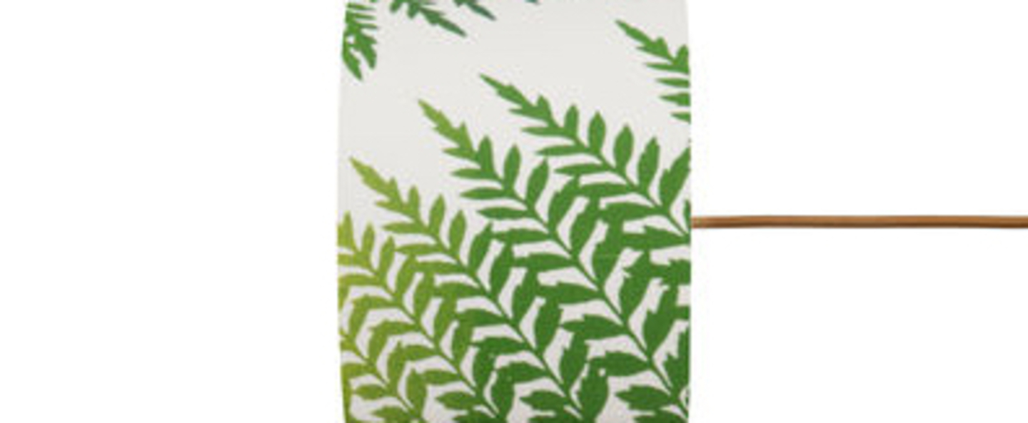 Abat jour fern leaves graphic vert o17 5cm h12cm ebb and flow normal