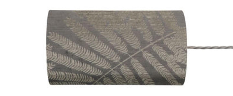 Abat jour fern leaves wild argent o11 5cm h22cm ebb and flow normal