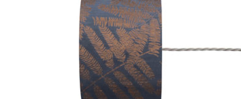 Abat jour fern leaves wild bleu o17 5cm h12cm ebb and flow normal