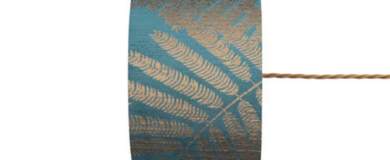 Abat jour fern leaves wild bleu sarcelle o17 5cm h12cm ebb and flow normal