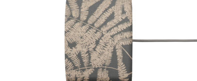 Abat jour fern leaves wild gris scintillant o17 5cm h12cm ebb and flow normal