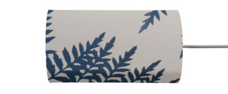 Abat jour fern leaves wild indigo o11 5cm h22cm ebb and flow normal