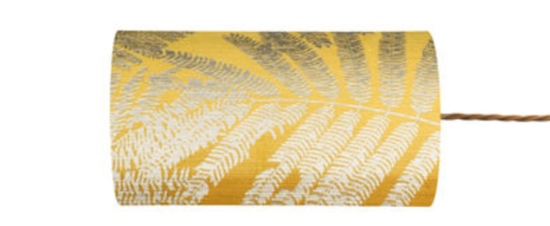Abat jour fern leaves wild jaune o11 5cm h22cm ebb and flow normal