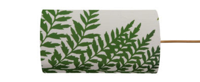 Abat jour fern leaves wild vert o11 5cm h22cm ebb and flow normal