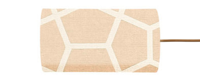 Abat jour glyptic beige o11 5cm h22cm ebb and flow normal