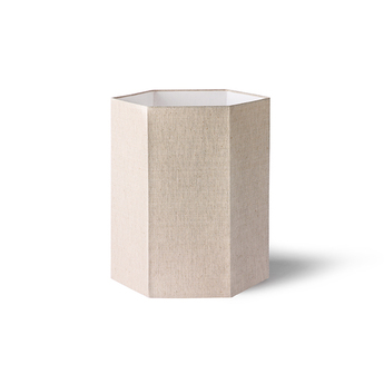 Abat jour hexagonal m naturel l27cm h32cm hk living normal