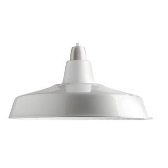 Abat jour lampe d atelier blanc o40cm h18cm zangra normal