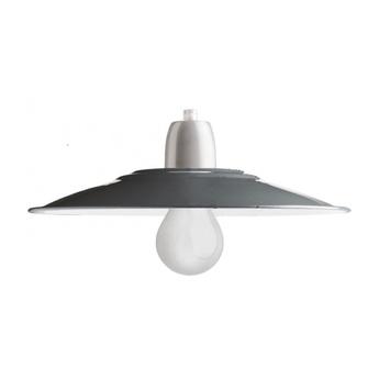 Abat jour lampe d atelier email gris o28cm h10cm zangra normal
