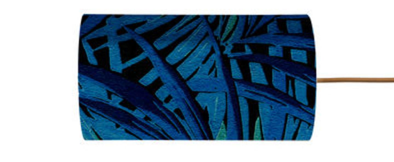 Abat jour leaves bleu electrique o11 5cm h22cm ebb and flow normal