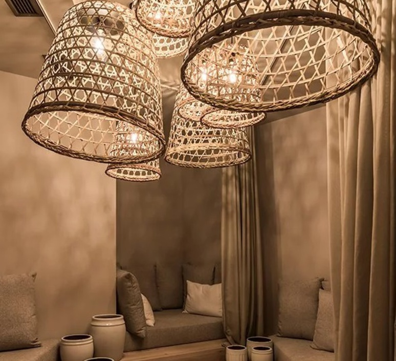 Round basket l studio tine k home  suspension pendant light  tine k home basdome lamp  design signed 60209 product