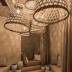 Round basket l studio tine k home  suspension pendant light  tine k home basdome lamp  design signed 60209 thumb