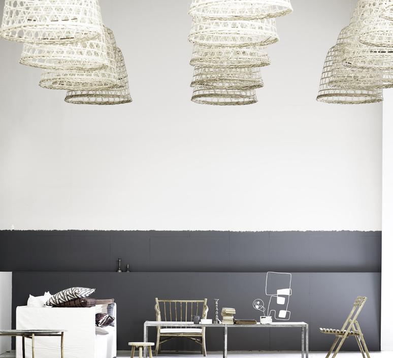 Round basket l studio tine k home  suspension pendant light  tine k home basdome lamp  design signed 60211 product