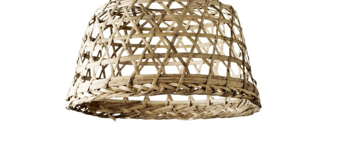 Abat jour market round basket open woven naturel o40cm h25cm tine k home normal