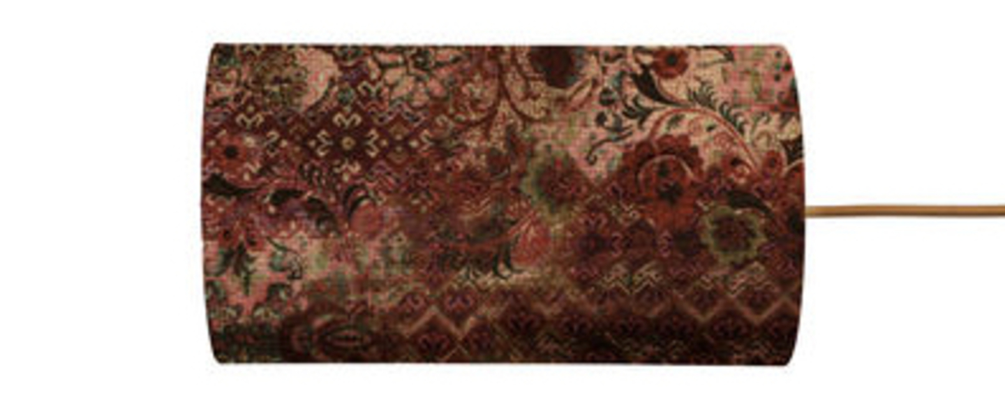 Abat jour persia cannelle velours o11 5cm h22cm ebb and flow normal