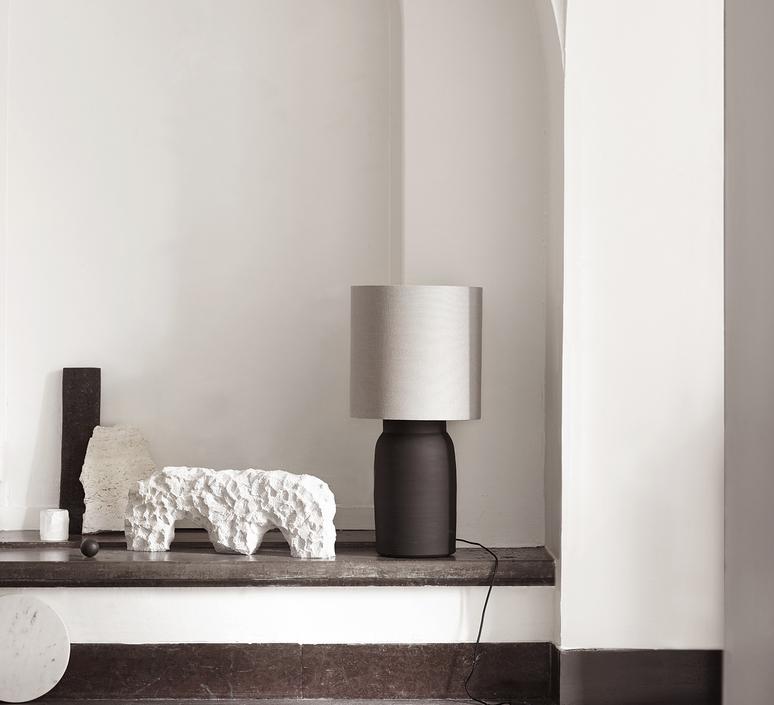 Shadelin l studio tine k home abat jour lampe shade  tine k home shadelin l grey  design signed nedgis 98962 product