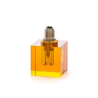 Accessoires crystaled ampoule carree ambre l7cm h12 5cm seletti normal