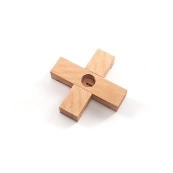Accessoires linea wooden stand bois marron o22cm h4cm seletti normal