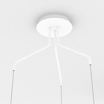 Accessoires odile rosace blanc o40cm h22cm lumen center italia normal