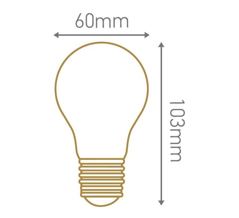 Ampoule a60 filament led 8w e27 3000k 980lm dimmable 33452 product
