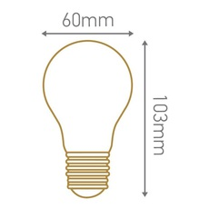 Ampoule a60 filament led 8w e27 3000k 980lm dimmable 33452 thumb
