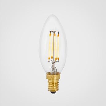Ampoule candle transparent led 2500k 320lm o3 5cm h10cm tala normal