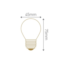 Spherique g45 filament  thomas edison ampoule classique classic bulb  girard sudron 28672  design signed nedgis 78517 thumb