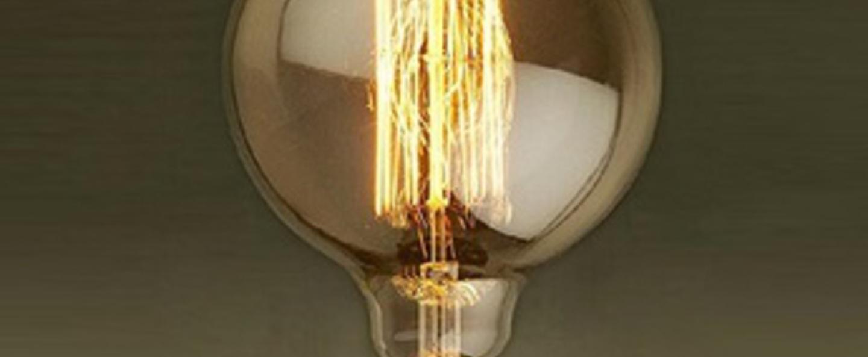Ampoule deco globo 40w laiton o9 5cm faro normal