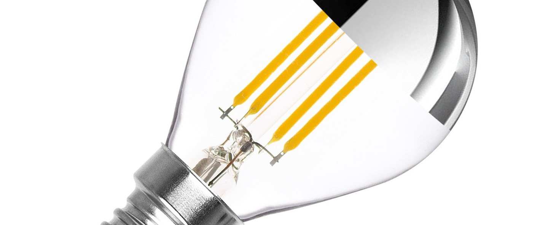 Ampoule e14 dimmable 3 5w 2500k 300lm calotte argent transparent nedgis normal