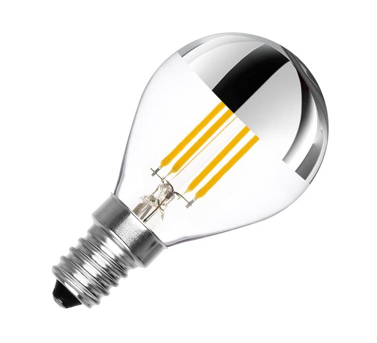 Ampoule e14 dimmable 3 5w 2500k 300lm calotte argent transparent nedgis 83949 product
