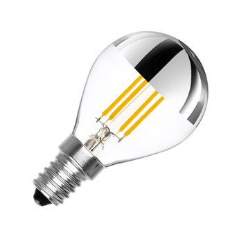 Ampoule e14 dimmable 3 5w 2500k 300lm calotte argent transparent nedgis normal