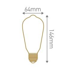 Ampoule e27 edison filament led 4w 2300k 300lm h14cm o6 4cm dimmable transparent girard sudron 57898 thumb