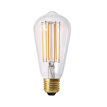 Ampoule e27 edison filament led 4w 2300k 300lm h14cm o6 4cm dimmable transparent girard sudron normal