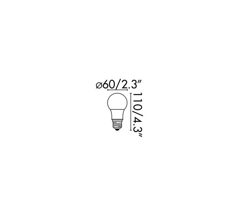 Ampoule e27 led 8w 2700k 638lm 270 o6cm h11cm faro 66507 product