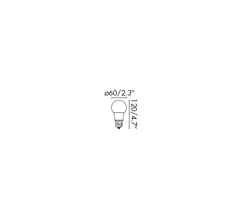 Ampoule e27 mat dimmable led 10w 2700k o6 h12cm 29686 product
