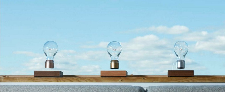 Ampoule en levitation flyte manhattan 2 0 chrome led o12 6cm h20cm flyte normal