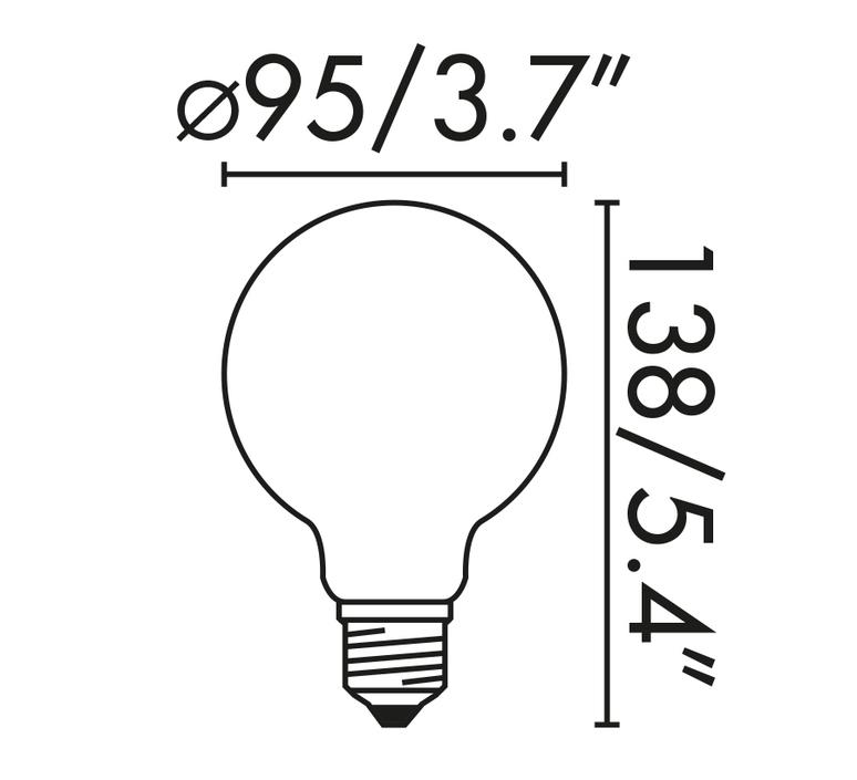 Ampoule globe e27 mat led 6w 2700k o9 5cm 26858 product
