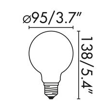 Ampoule globe e27 mat led 6w 2700k o9 5cm 26858 thumb