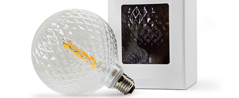Ampoule l cristal filament o12 5cm led e27 zangra normal